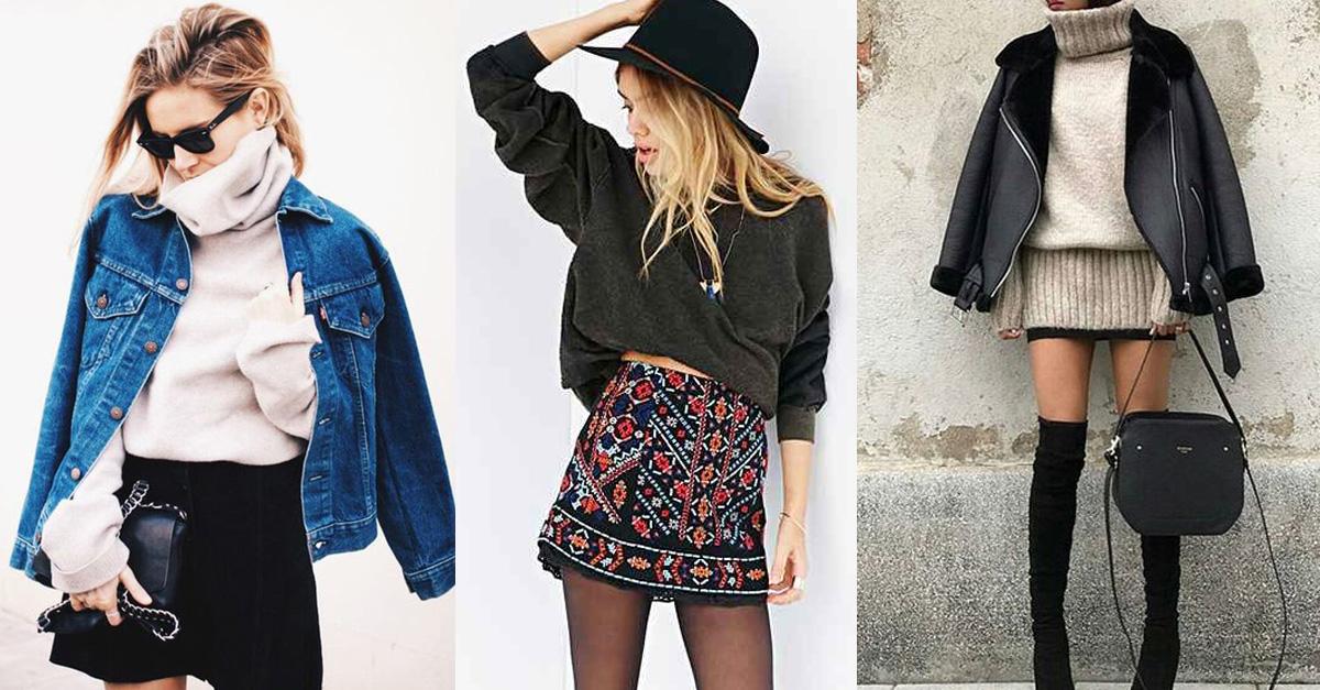 844f1dcca Tips para estilizar una mini falda en invierno y lograr un look sexy ...