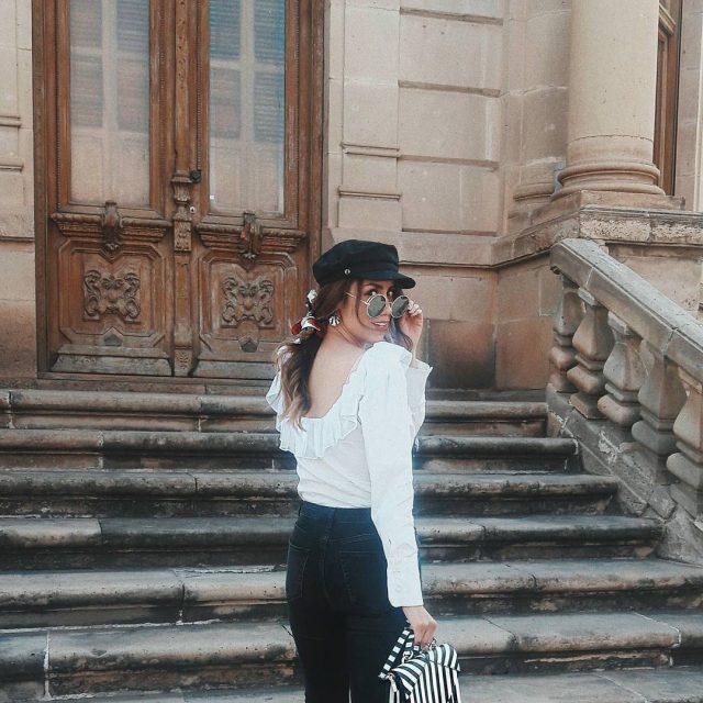 Sbado de outfit Blanco y negro me encanta esta blusahellip